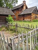 Vance Birthplace State Historical Site in Weaverville North Carolina.