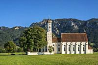 Kirche St. Coloman bei Schwangau im Allgäu, Bayern, Deutschland | St. Coloman church near Schwangau, Allgaeu, Bavaria, Germany.