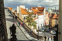 Autumn afternoon in Mala Strana, Prague.