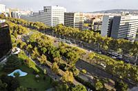 Diagonal avenue, Barcelona. Illa Diagonal shopping centre.