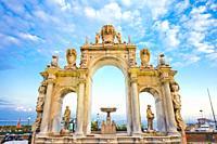 Fountain of Giant, Fontana del Gigante, Via Partenope, Naples city, Campania, Italy, Europe.