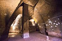 Naples underground, Napoli sotterranea, Piazza San Gaetano square, Naples city, Campania, Italy, Europe.