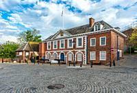 The Custom House on The Quay on the bank of the River Exe in Exeter, Devon, England, UK.