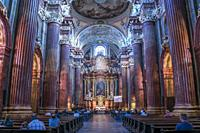 Poznan Fara or Collegiate Church interior, Poznan, Poland, Europe.