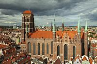 St Mary's basilica in Gdansk old town, Poland.
