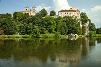 Summer afternoon at Tyniec Benedictine Abbey near Krakow, Poland.