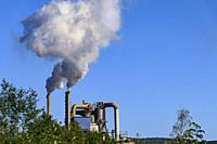 Harnosand, Sweden A pulp and paper processing plant belches out fumes.