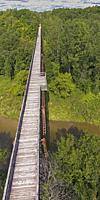 Avoca, Michigan - The 12. 5-mile Wadhams to Avoca Trail, a former CSX Railway line that was converted to a hiking and bicycling trail. A 640-foot long...