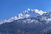 Mount Annapurna viewed from trek from Ghorepani to Tatopani, Nepal.