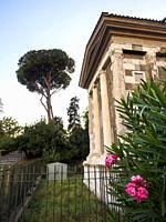 The Temple of Portunus (Tempio di Portuno) or Temple of Fortuna Virilis (manly fortune) - Rome, Italy.