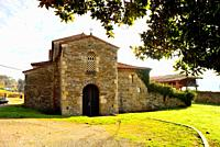 Church of San Juan Evangelista in Santianes de Pravia, Pravia, Asturias, Spain.
