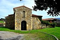 Church of San Juan Evangelista in Santianes de Pravia, Pravia, Asturias, Spain.