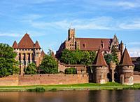 Castle of the Teutonic Order in Malbork, Pomeranian Voivodeship, Poland.