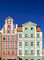 Tenement Houses at Old Town Market Square, Wroclaw, Lower Silesian Voivodeship, Poland.