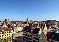 Old Town, elevated view, Wroclaw, Lower Silesian Voivodeship, Poland.