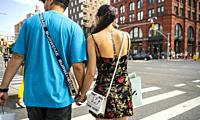 Asian tourists with branded merchandise in New York on Saturday, August 17, 2019.
