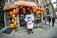 Dunkin' kicks off the Pumpkin Spice season on Wednesday, August 14, 2019 with a ceremonial rebranding of their name from Dunkin' to â. œPumpkin' ' at ...