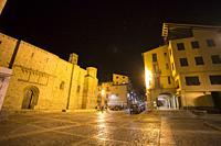 Seo de Urgell medieval village in Tarragona Catalonia Spain on July 26, 2019.