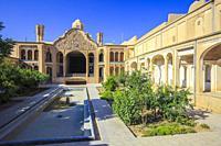 Courtyard. Boroujerdi Historical House (Khan-e Boroujerdi). Kashan. Iran, Asia.