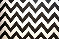 Zigzag Striped seamless pattern with horizontal line. Black and white fashion graphics design. Strict graphic background. Retro style. Template for wa...