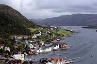 Kalvag, norvegian town september 2018, Norway landscape beauty.