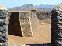 Fortress Forte Real de Sao Filipe. Cidade Velha, historic center of Ribeira Grande, listed as UNESCO world heritage. Island of Santiago (Ilha de Santi...