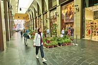 People walking at Beirut Souks, a major commercial district in Beirut Central District.