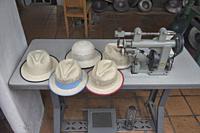 Scenes from a Panama hat (paja toquilla) factory in Cuenca, Ecuador.