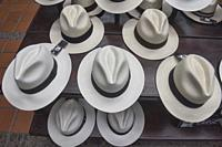 Traditional Panama hats (paja toquilla), which actually come from Ecuador.