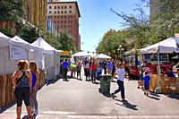 People attending the popular Tucson Meet Yourself Festival on a glorious weekend in October.