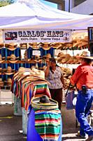 Carlos' Hats stand at the Tucson Meet Yourself Folklife Festival.