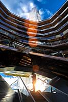 Inside The Vessel in the Hudson Yards area. New York . USA- Oct 6, 2019.