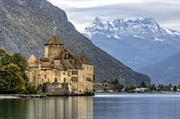 Veytaux, Vaud, Lake Geneva, Switzerland, Europe.