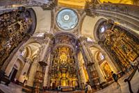 Interior of Church of Our Saviour - Iglesia del Salvador in Seville Spain.