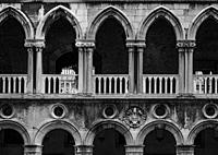 Archway of the Doges Palace in Venice in Italy.