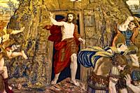 Vatican Museum Jesus Resurrection Rise from Tomb Tapestry Rome Italy.