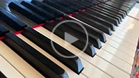 Automatic Piano Key with Classical Music in Italy.
