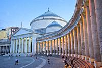 Church of San Francesco di Paola, Basilica di San Francesco di Paola, Piazza del Plebiscito square, Naples city, Campania, Italy, Europe.