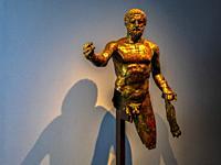 """France, Nouvelle Aquitaine, Gironde, """"""""Musée d´Aquitaine"""""""" at Bordeaux. Staue of Hercules (3rd century ) found at Bordeaux."""