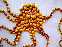"""France, Pays de Loire, Vendée, Les Sable d´Olonne:house decorated with sea shells, at""""""""Quartier de lIe Penotte""""""""."""