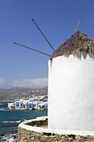 Windmill, Mykonos Town, Mykonos Island, Cyclades Group, Greece