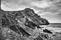 "San Juan de Gaztelugatxe in Bermeo (Pais Vasco, Spain). It's a very famous island thanks to the """"Game of thrones"""" series. On the island there is a h..."