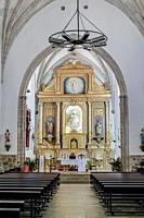 Interior of the church of Nuestra Señora de la Asunción, High Altar, located next to the Palace of the Marqués de Santa Cruz, Archive of the Navy, Vis...
