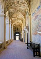 Hallway mezzanine of General Archive of the Navy in the palace of the Marquis of Santa Cruz is a building located in the municipality of Viso del Marq...