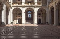 Access to the courtyard of General Archive of the Navy in the palace of the Marquis of Santa Cruz is a building located in the municipality of Viso de...