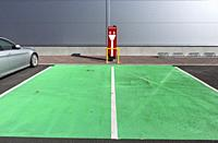 electric car charging station, Finland.