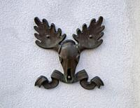 old emblem on the Cavalry Museum wall, Lappeenranta Finland.