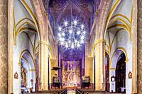 Interior of Santa Maria de la Mesa church, Utrera (Seville, Spain).