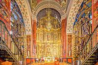 High altar of Santa Maria de la Mesa church, Utrera (Seville, Spain).