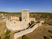 Ucero Castle, belonged to the order of the Temple, XIII and XIV centuries, Soria, Autonomous Community of Castile-Leon, Spain, Europe.